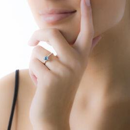 Bague Tarente Or Blanc Topaze Et Diamant - Bagues solitaires Femme | Histoire d'Or