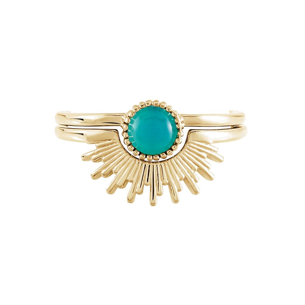 Bague Calipso Plaque Or Jaune Verre - Bagues avec pierre Femme | Histoire d'Or