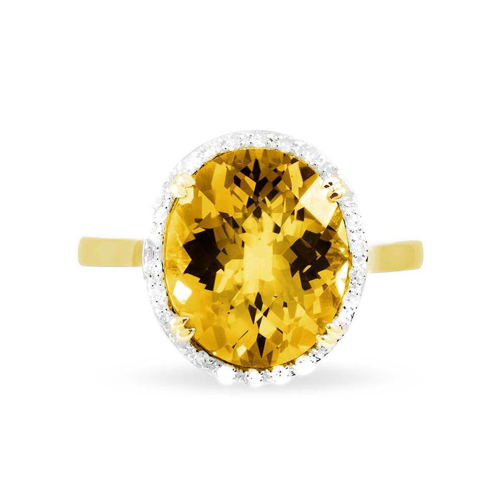 Bague Anna Or Jaune Citrine Et Diamant - Bagues avec pierre Femme | Histoire d'Or
