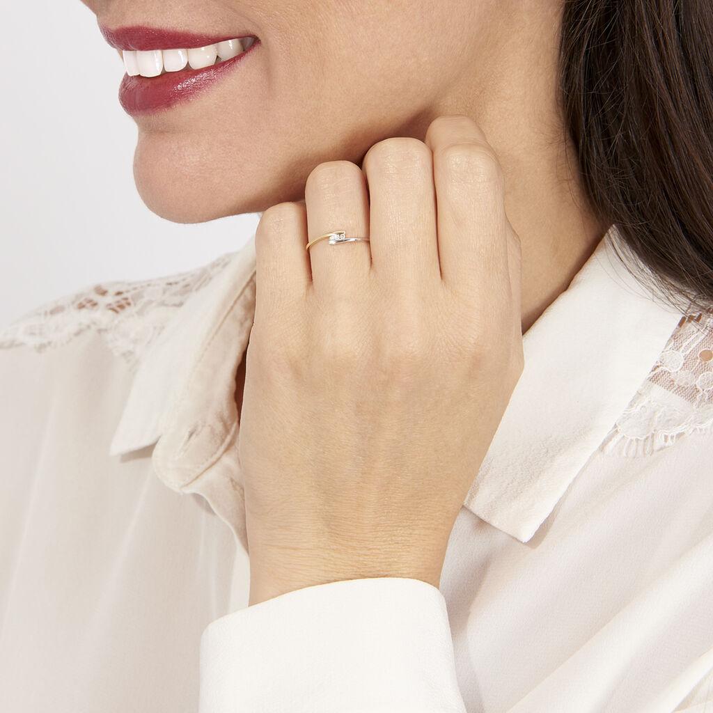 Bague Brooke Or Bicolore Diamant - Bagues avec pierre Femme | Histoire d'Or