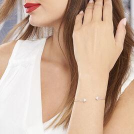 Bracelet Jonc Trilia Argent Blanc - Bracelets fantaisie Femme | Histoire d'Or
