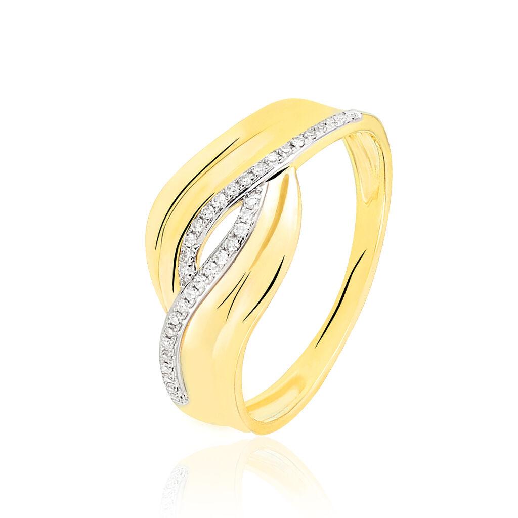 Bague Eden Or Jaune Diamant - Bagues avec pierre Femme | Histoire d'Or