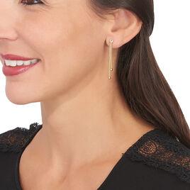 Boucles D'oreilles Pendantes Assiba Or Jaune - Boucles d'oreilles pendantes Femme   Histoire d'Or