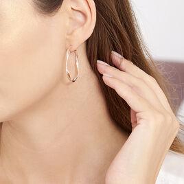 Creoles Argent Rose Rondes Helicoidales - Boucles d'oreilles créoles Femme | Histoire d'Or