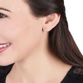 Boiucles D'oreilles Puces Or Bicolore - Boucles d'Oreilles Coeur Femme | Histoire d'Or