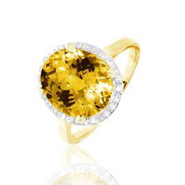 Bague Or Jaune Anna Citrine - Bagues avec pierre Femme   Histoire d'Or
