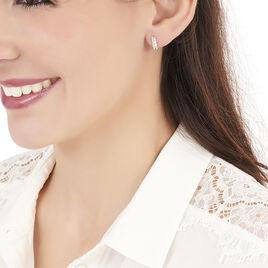 Boucles D'oreilles Puces Cyprine Or Blanc Diamant - Clous d'oreilles Femme | Histoire d'Or