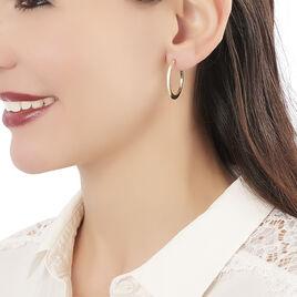 Créoles Suzana Lisses Fil Triangle Or Jaune - Boucles d'oreilles créoles Femme   Histoire d'Or