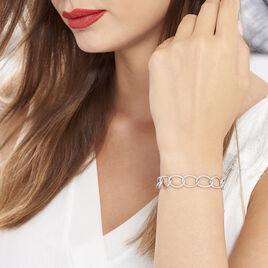 Bracelet Christia Argent Blanc - Bijoux Femme   Histoire d'Or