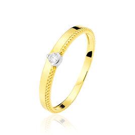 Bague Lou Or Jaune Diamant - Bagues solitaires Femme | Histoire d'Or