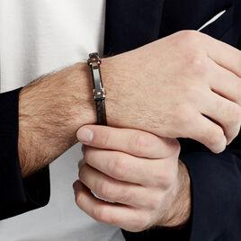 Bracelet Ludovic Acier Blanc Oxyde De Zirconium - Bracelets fantaisie Homme | Histoire d'Or