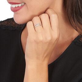 Bague Joaquina Or Blanc Diamant - Bagues avec pierre Femme   Histoire d'Or