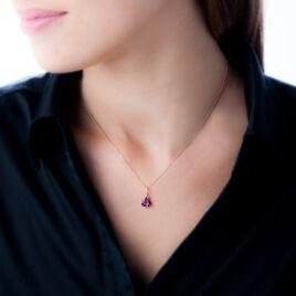 Collier Or Rose Amethyste Et Diamant - Bijoux Femme | Histoire d'Or