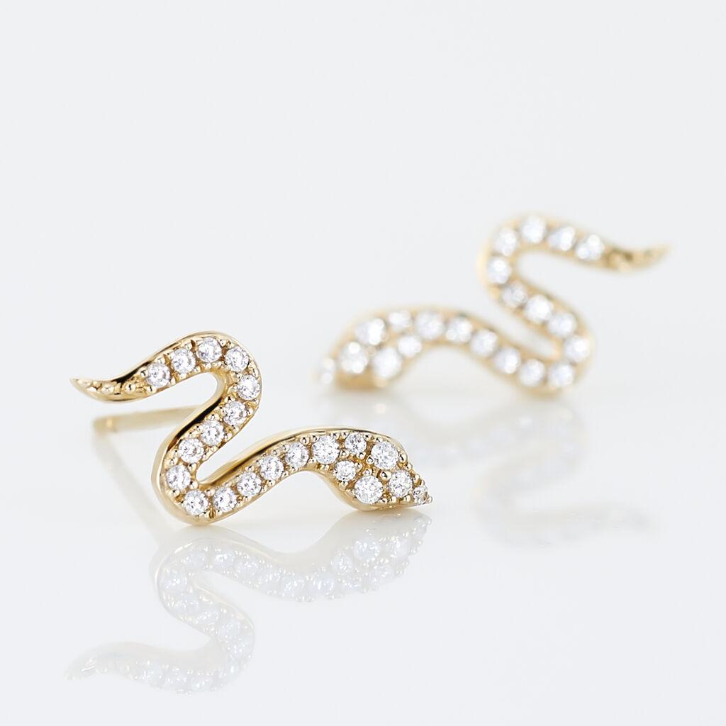 Boucles D'oreilles Pendantes Dorilis Or Jaune Oxyde De Zirconium - Boucles d'oreilles pendantes Femme | Histoire d'Or