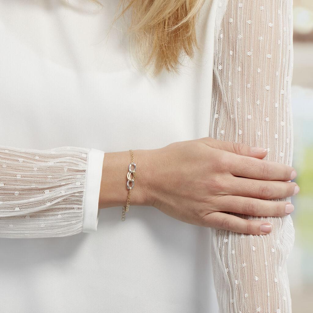Bracelet Louisa Or Bicolore - Bijoux Femme | Histoire d'Or