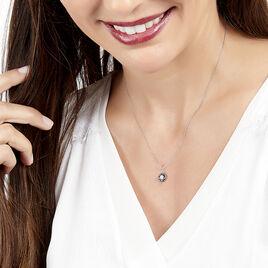 Collier Milana Or Blanc Saphir Et Diamant - Bijoux Femme | Histoire d'Or