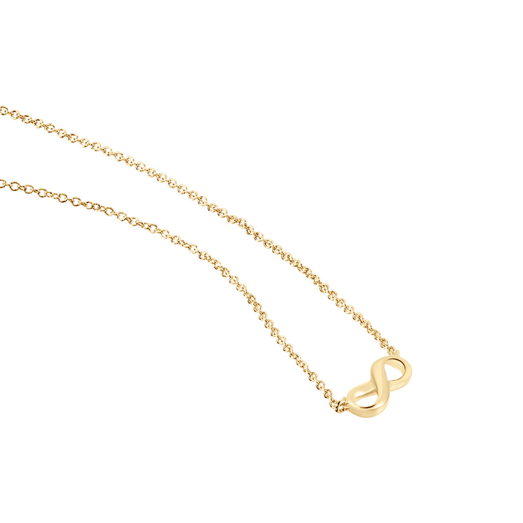 Collier Ajna Plaque Or Jaune - Colliers Infini Femme | Histoire d'Or