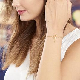 Bracelet Argent Dore Attrape Reve Ambre - Bracelets Attrape rêves Femme | Histoire d'Or