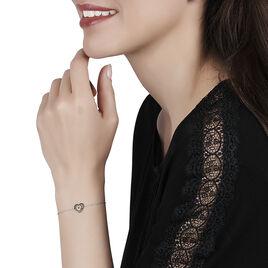 Bracelet Chiara Or Blanc Diamant - Bracelets Coeur Femme | Histoire d'Or