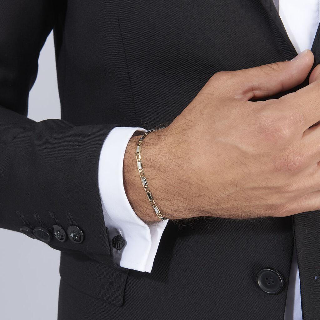 Bracelet Hymen Or Bicolore - Bracelets chaîne Homme | Histoire d'Or
