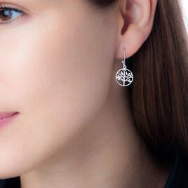 Boucles D'oreilles Pendantes Mely Argent Blanc - Boucles d'oreilles fantaisie Femme | Histoire d'Or