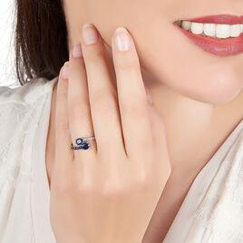 Bague Toi Et Moi Or Blanc Saphir Et Diamant - Bagues avec pierre Femme   Histoire d'Or
