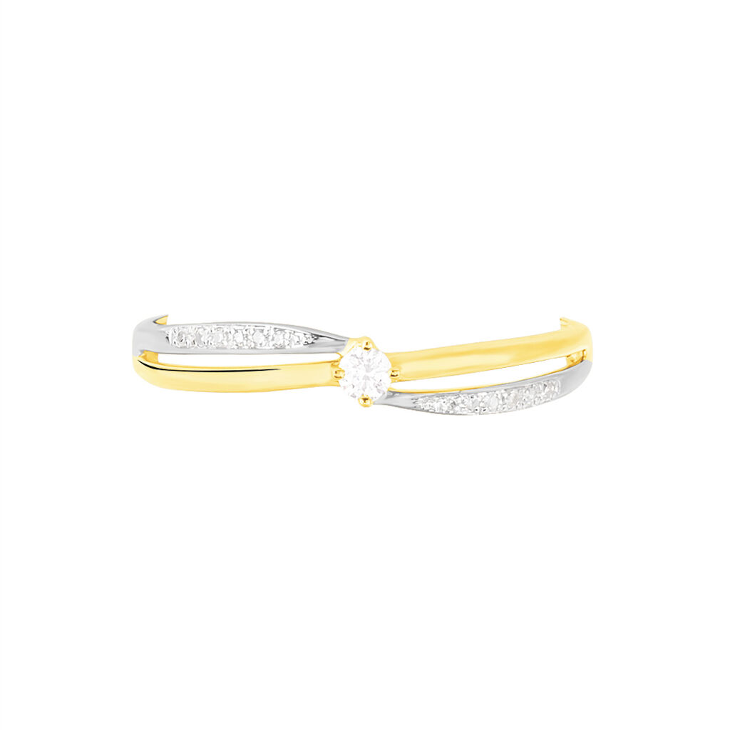Bague Selene Or Bicolore Diamant