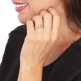 Bague Or Bicolore Caterine Diamants - Bagues avec pierre Femme | Histoire d'Or