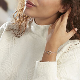 Bracelet Oflaz Argent Blanc Oxyde De Zirconium - Bracelets Coeur Femme | Histoire d'Or