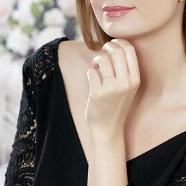 Bague Solitaire Alexandra Or Blanc Diamant - Bagues solitaires Femme   Histoire d'Or