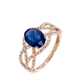 Bague Tina Or Rose Saphir Et Diamant - Bagues avec pierre Femme | Histoire d'Or