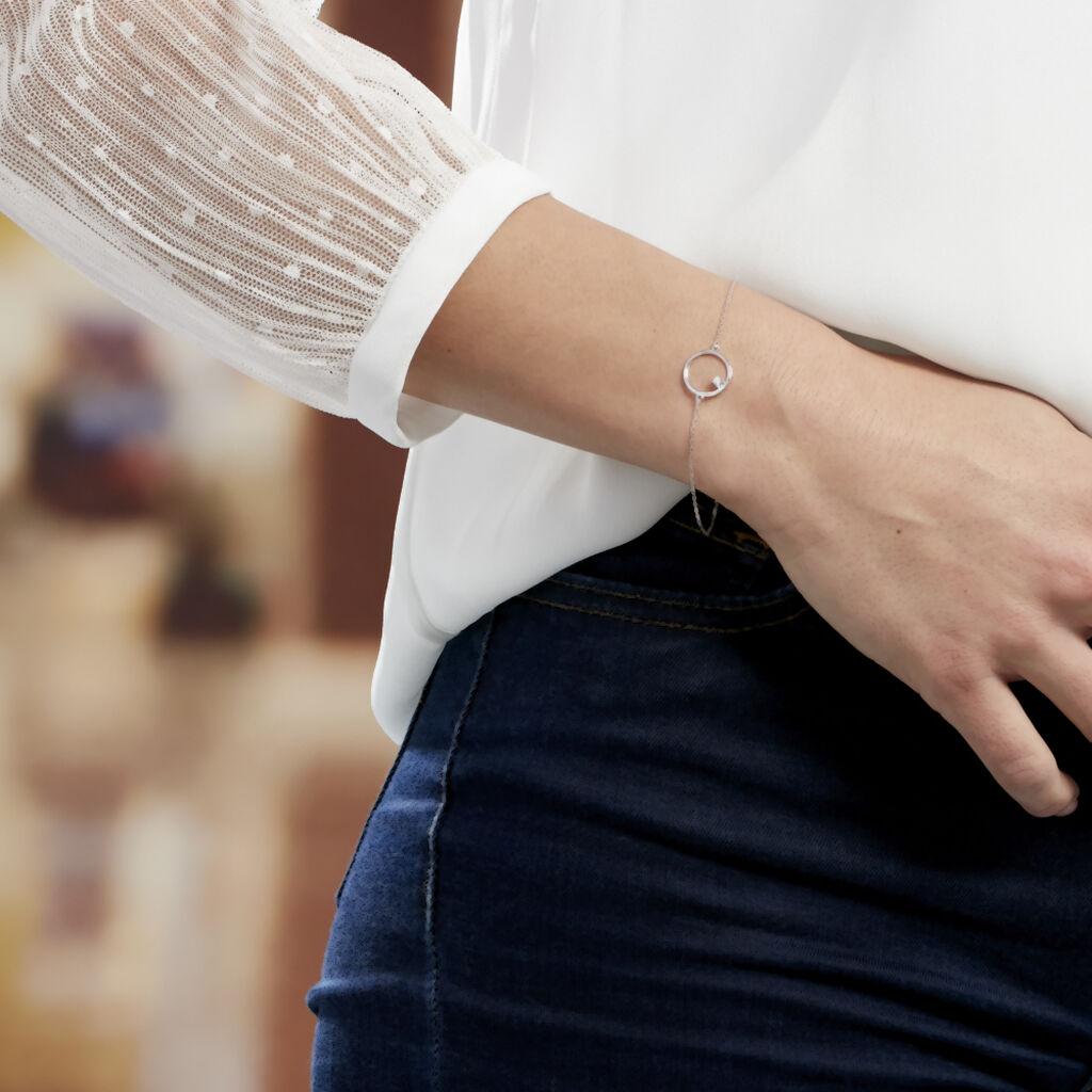 Bracelet Anas Argent Blanc Oxyde De Zirconium - Bracelets fantaisie Femme | Histoire d'Or