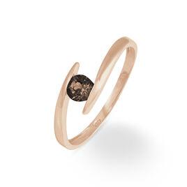 Bague Tiphaine Or Rose Quartz - Bagues avec pierre Femme   Histoire d'Or