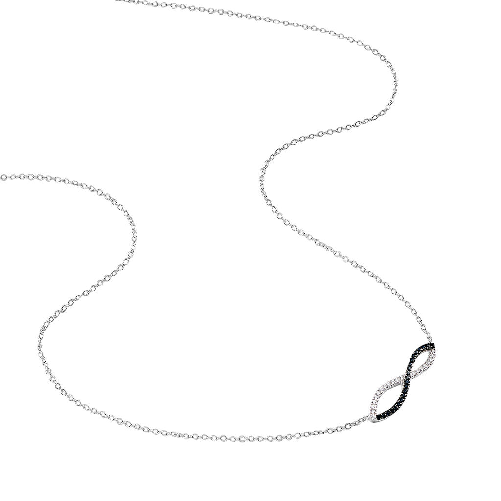 Collier Prudentia Argent Blanc Oxyde De Zirconium - Colliers Infini Femme | Histoire d'Or