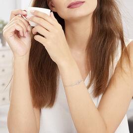 Bracelet Mahee Argent Blanc - Bracelets fantaisie Femme | Histoire d'Or
