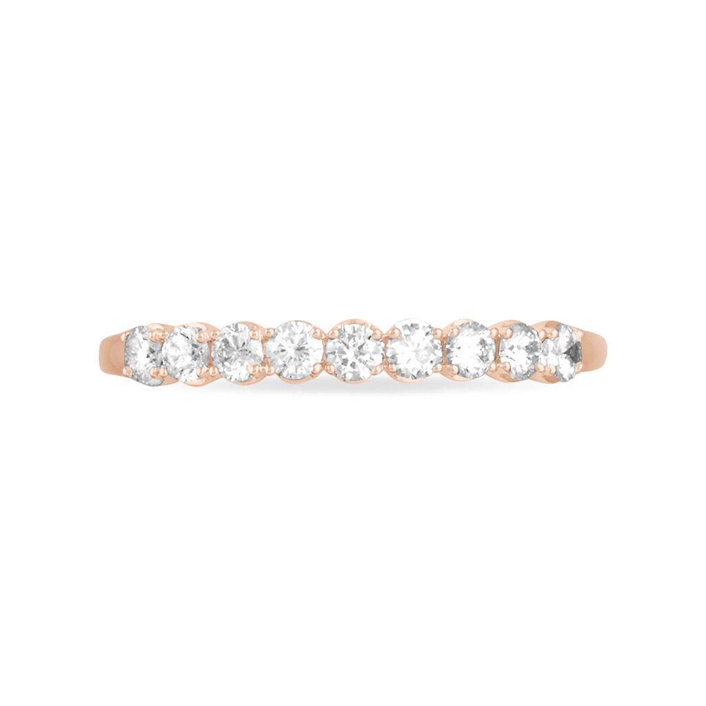 Alliance Eloise Or Rose Diamant - Alliances Femme | Histoire d'Or
