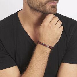 Bracelet Sebastien Acier Blanc - Bracelets fantaisie Homme   Histoire d'Or