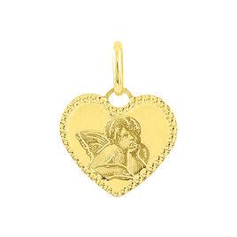 Pendentif Ange Coeur Or Jaune - Pendentifs Coeur Famille   Histoire d'Or