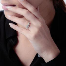 Bague Superposition Or Tricolore Diamant - Bagues avec pierre Femme | Histoire d'Or