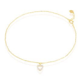 Chaîne De Cheville Samanta Or Jaune Oxyde De Zirconium - Bijoux Coeur Femme | Histoire d'Or