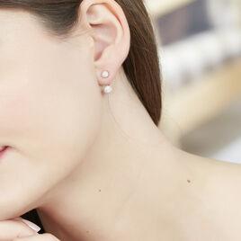 Bijoux D'oreilles Rosely Argent Blanc - Boucles d'oreilles fantaisie Femme | Histoire d'Or