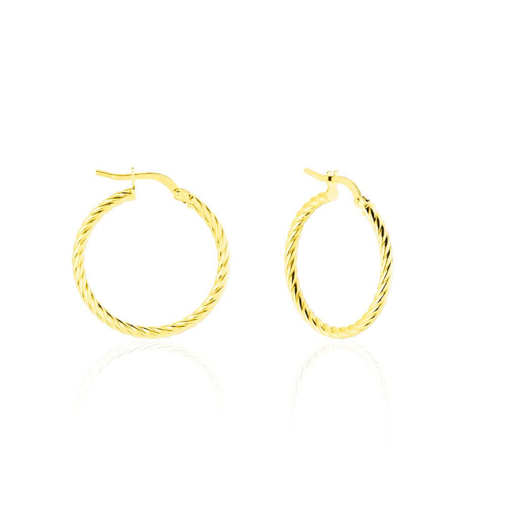 Créoles Bartimee Torsade Or Jaune - Boucles d'oreilles créoles Femme   Histoire d'Or