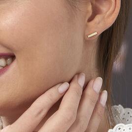 Boucles D'oreilles Puces Graciosa Plaque Or Jaune - Boucles d'oreilles fantaisie Femme   Histoire d'Or