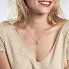 Collier Theolina Plaque Or Jaune Oxyde De Zirconium - Colliers Arbre de vie Femme   Histoire d'Or