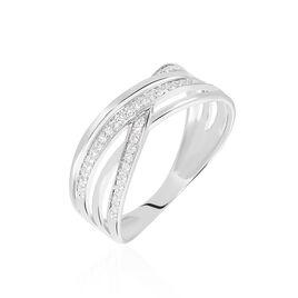 Bague Emmaline Or Blanc Diamant - Bagues avec pierre Femme | Histoire d'Or