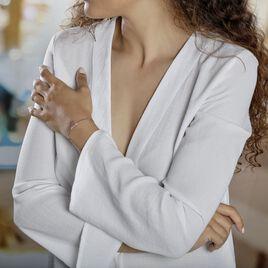Bracelet Jonc Rosita Argent Blanc - Bracelets fantaisie Femme   Histoire d'Or