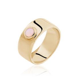 Bague Vaina Plaque Or Jaune Opale - Bagues avec pierre Femme | Histoire d'Or