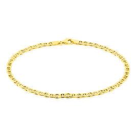 Bracelet Capucin Maille Marine Plate Or Jaune - Bracelets chaîne Homme | Histoire d'Or