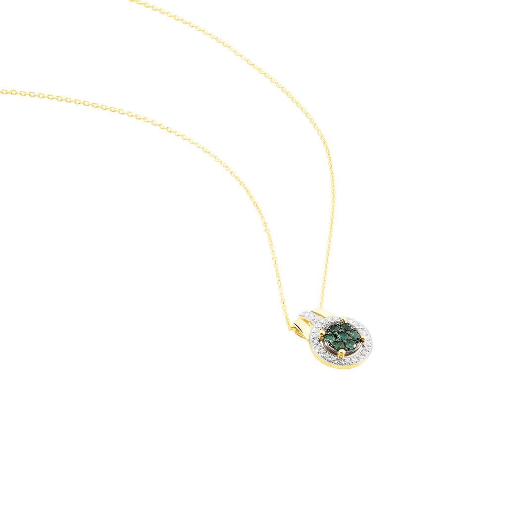 Collier Lise-laure Or Jaune Emeraude Et Diamant - Bijoux Femme | Histoire d'Or
