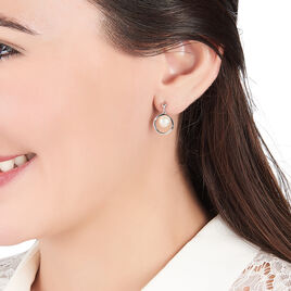 Boucles D'oreilles Pendantes Ivana Argent Blanc Perle De Culture - Boucles d'oreilles fantaisie Femme | Histoire d'Or